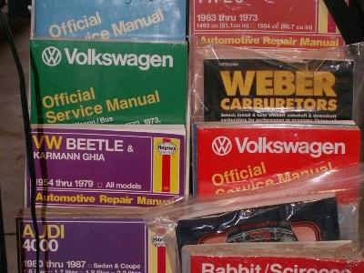 Vrba's Parts huge collection of Volkswagen Manuals in Colorado