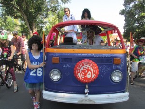 Volkswagen bus in Fort Collins Tour de Fat
