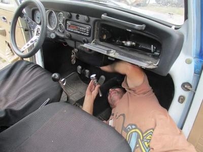 Vrba's Parts  doesinterior maintenance on a Coloradoan Volkswagen