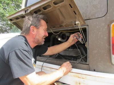Vrba's Parts services a VW bus in Fort Collins Colorado