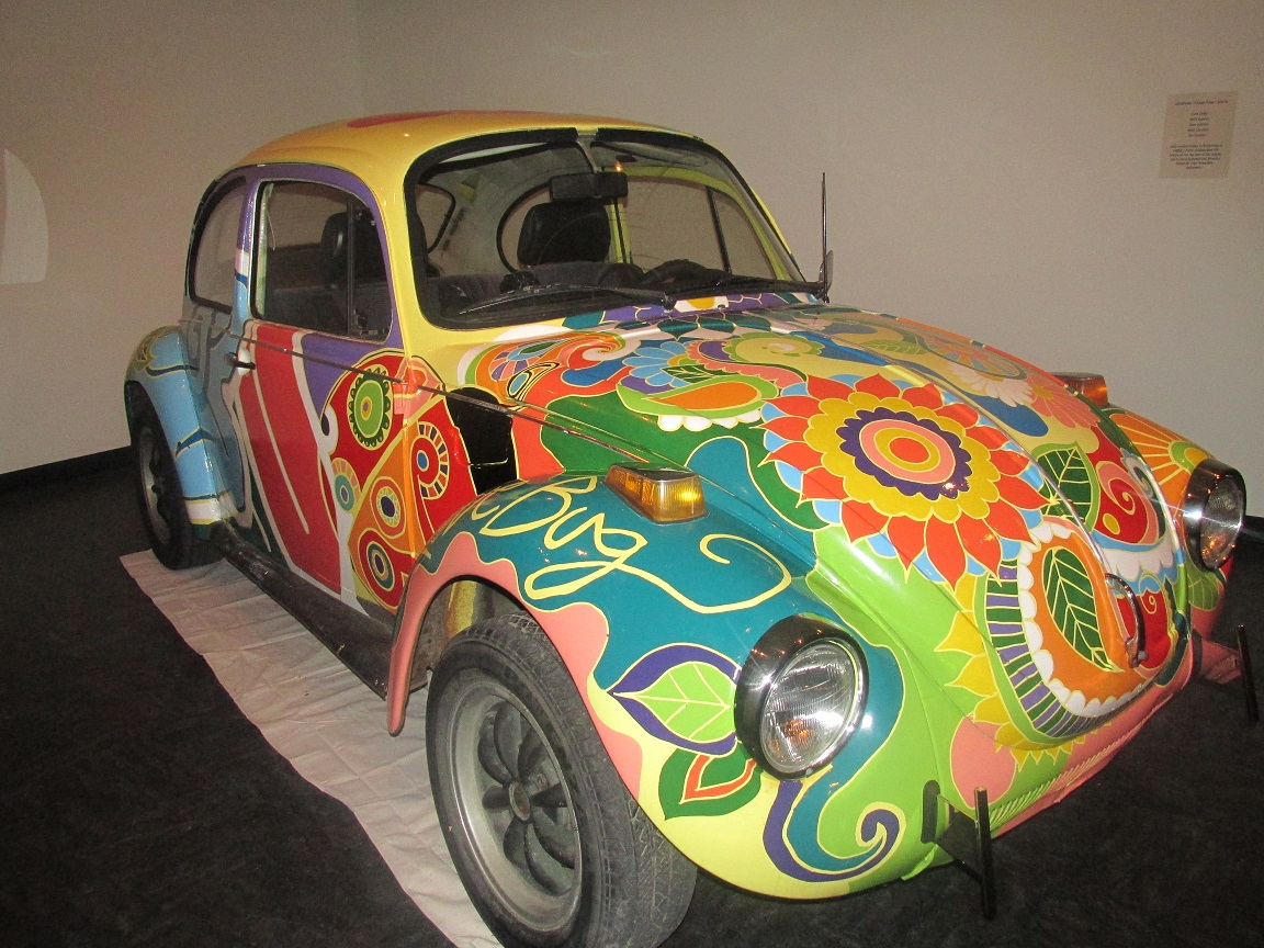 Volkswagen Bug from Vrba's Parts on display at Colorado State University